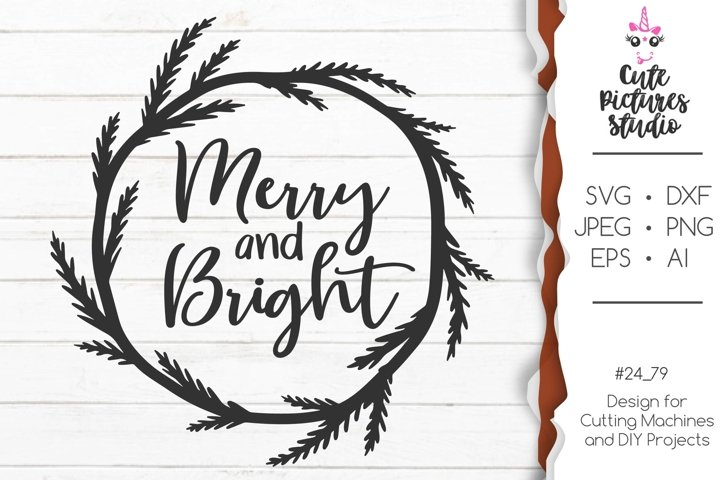 Christmas frame SVG cut file, Scandinavian christmas svg