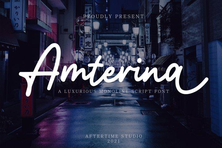 Amterina - Monoline Script Font