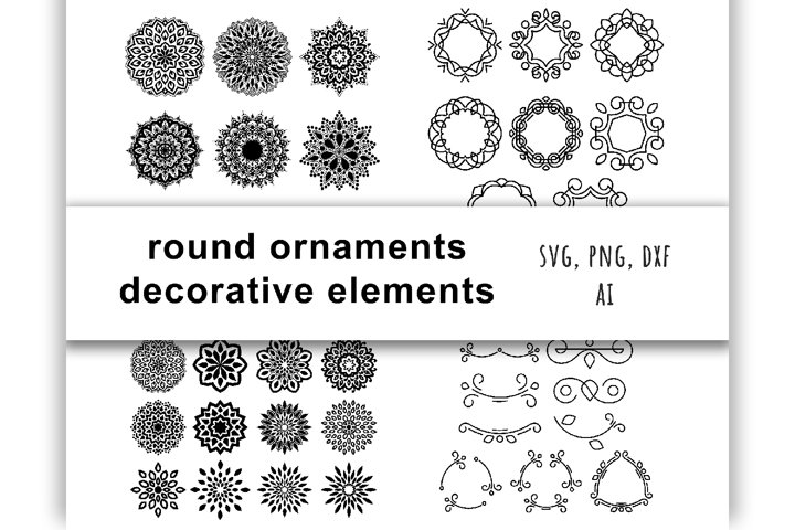 Round ornaments and decorative elements