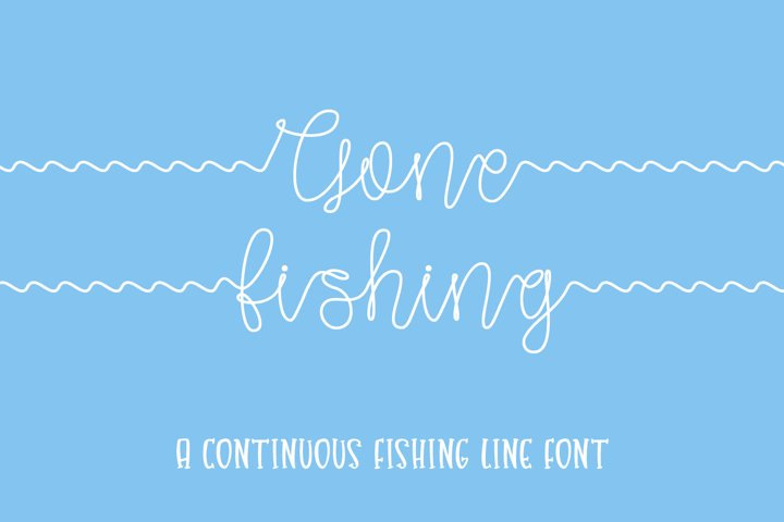 Gone Fishing - a fishing line font - Free Font Of The Week Design3