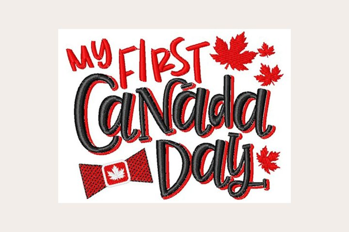 My First Canada Day - Machine Embroidery Design