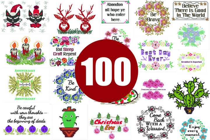 100 Cross stitch patterns PDF - INSTANT DOWNLOAD