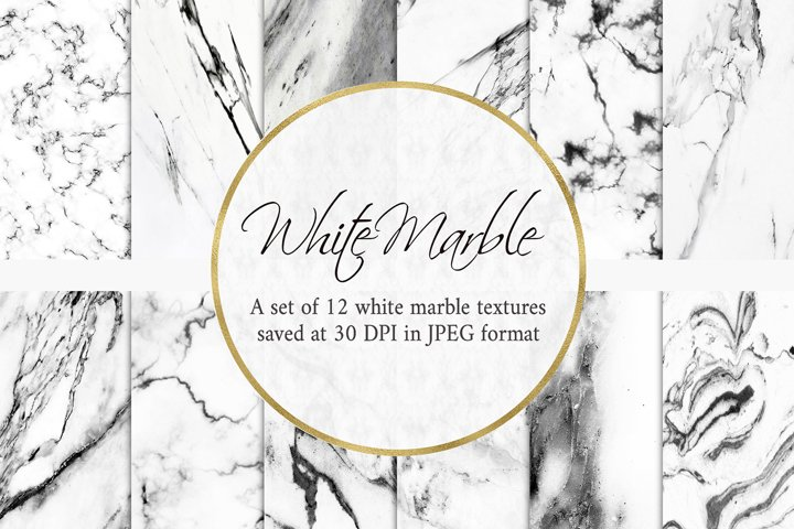 White Marble Digital Paper Backgrounds Textures Patterns