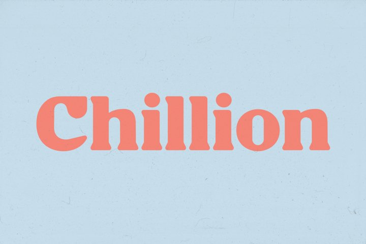 Chillion - Multipurpose Display Font