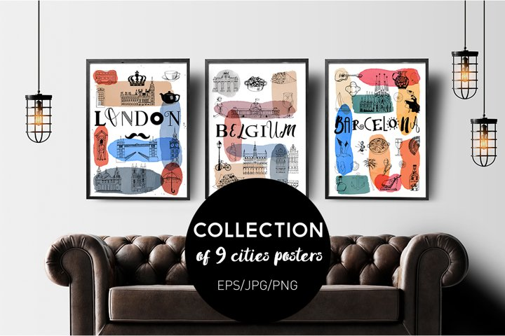 Collection of 9 cities