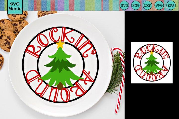 Round Christmas SVG, Christmas Tree SVG, Christmas Song SVG