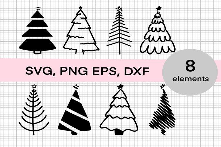 Christmas tree SVG, Christmas tree print PNG