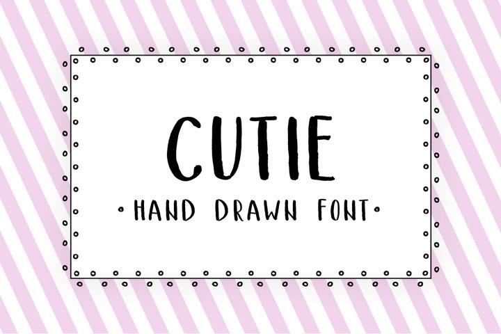 Cutie - hand drawn font