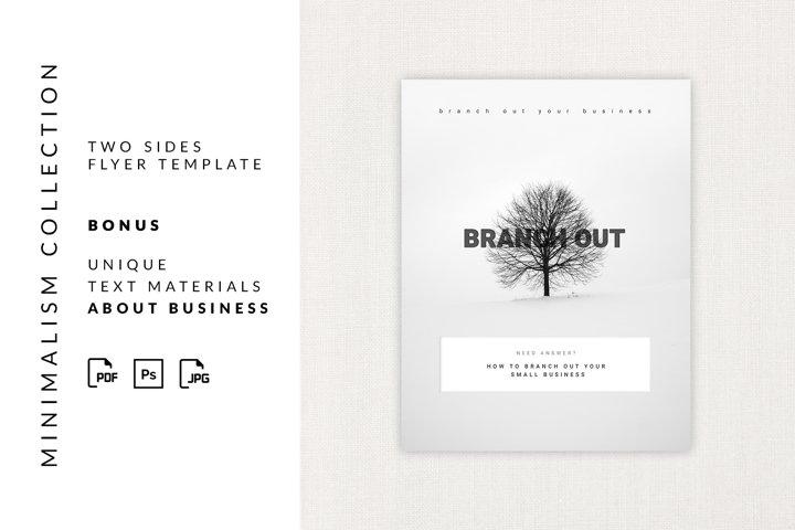 Flyer minimalism template