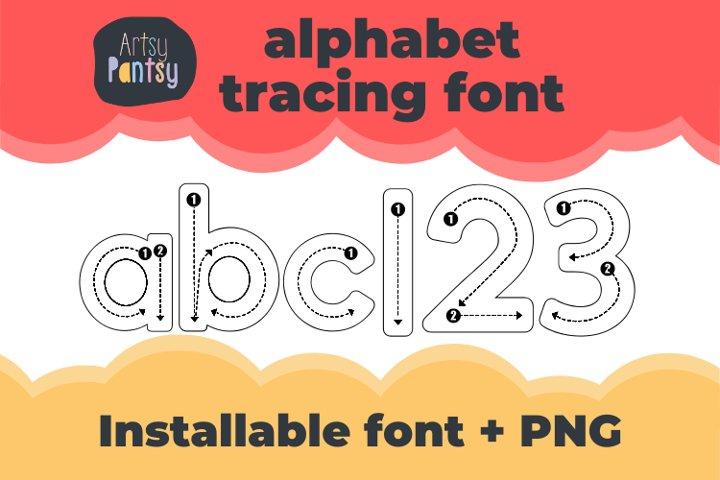 Artsy Alphabet Tracing - Alphabet Letter Tracing Font Letter