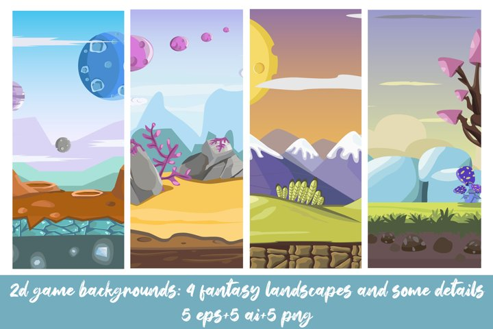 Vector game seamless background