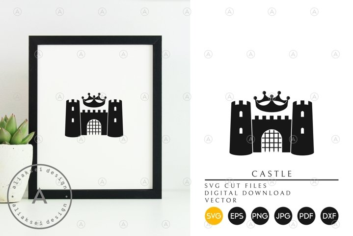 Castle with Crown SVG