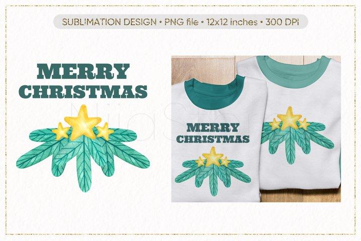 Christmas Branch PNG, Merry Christmas PNG, Christmas Print