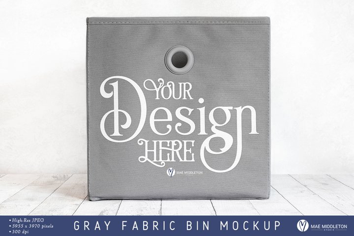 Fabric Bin Mockup | Styled photo