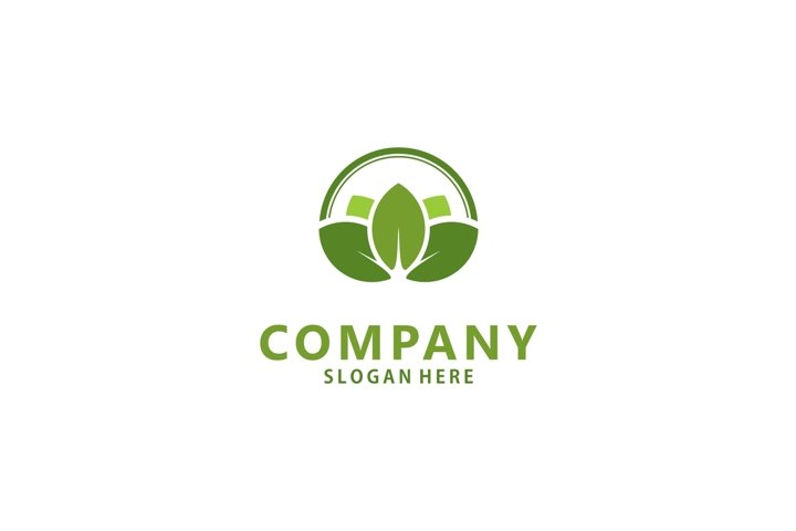 Farm / agriculture nature logo with leaf design
