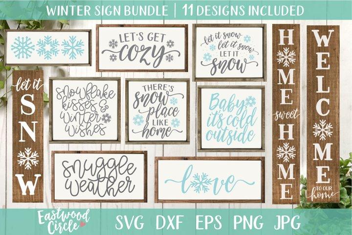 Winter SVG Bundle - Cut Files for Signs