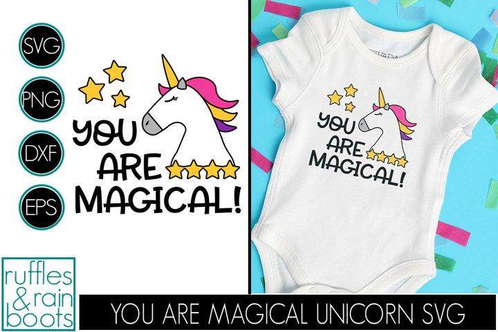 Unicorn SVG - You Are Magical Unicorn Cut File with Stars