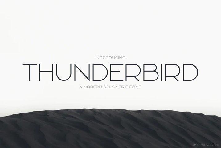 Thunderbird | Modern Font