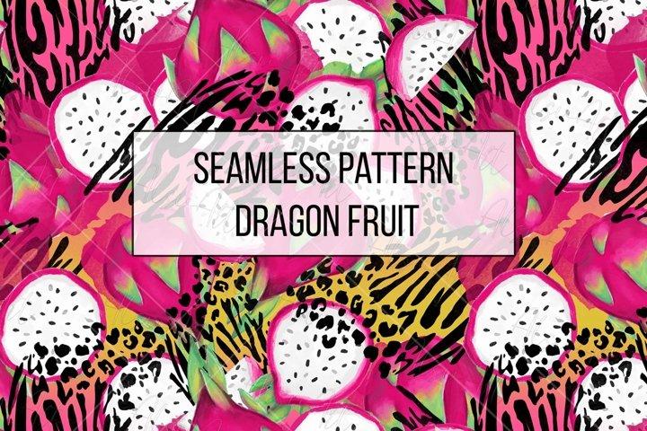 Seamless Pattern Dragon Fruit