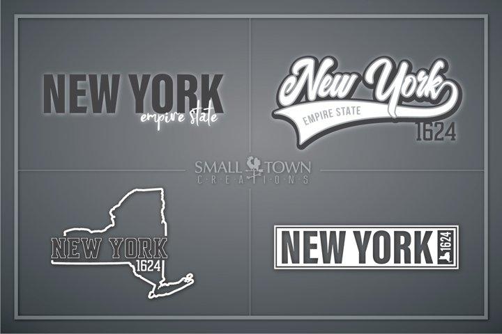 New York, Empire State - slogan, PRINT, CUT & DESIGN