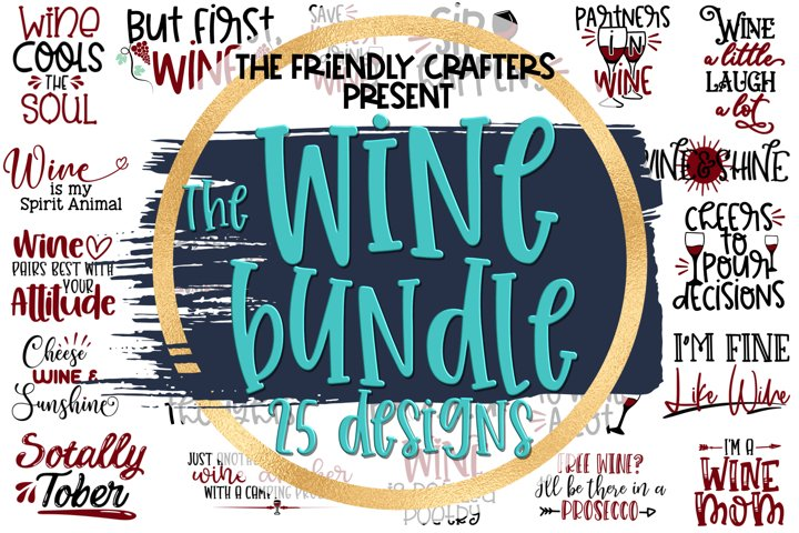 Wine Bundle - A Bundle of 25 Wine SVGs
