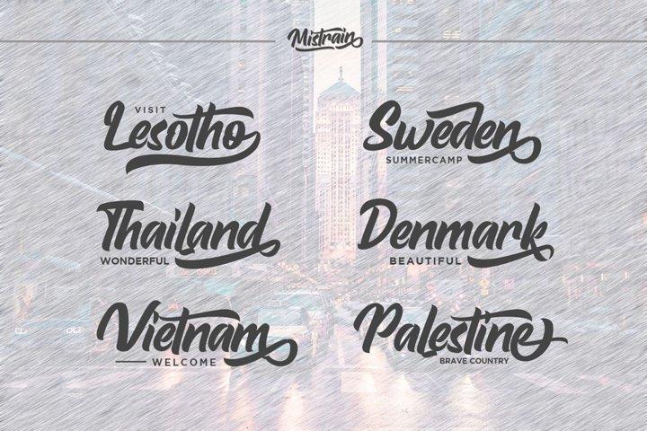 Mistrain Modern Hand Lettering - Free Font Of The Week Design2
