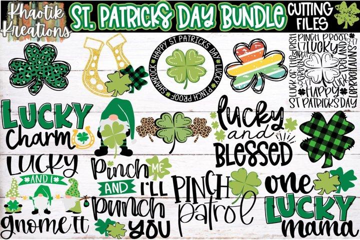 St Patricks Day Svg Bundle, One Lucky Mama Svg, Clover Svg