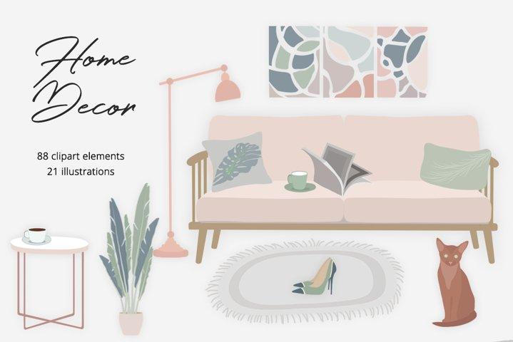 Home Decor Illustration Set