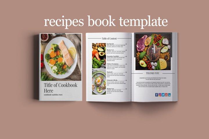 Recipe Book Template for Canva