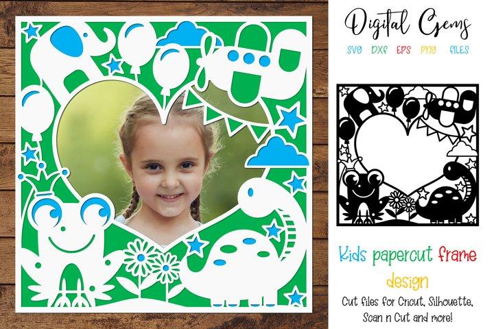 Animal, Kids paper cut design SVG / DXF / EPS / PNG files