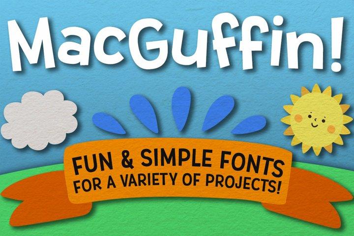 MacGuffin - fun font set