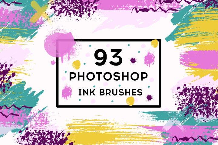 93 Photoshop ink brushes