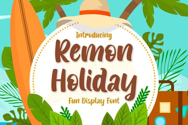 Fun Display Font - Remon Holiday