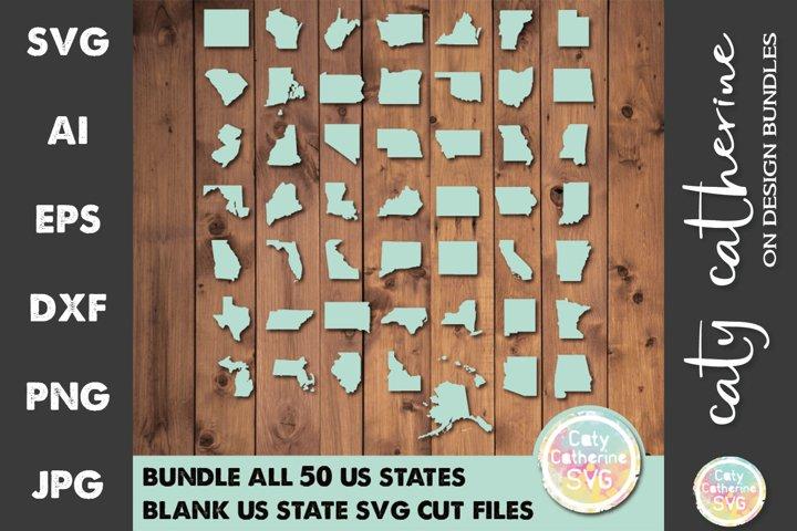 BUNDLE Blank Template US State SVG Cut File