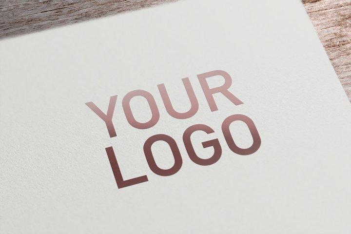 Card Logo Mockup