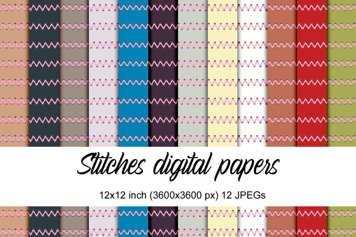 Stitches digital papers