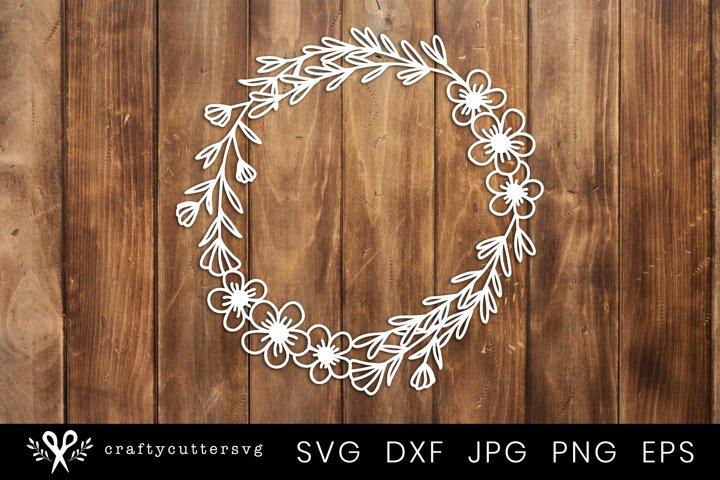 Paper Cut Design | Flower Wreath Svg Cut File