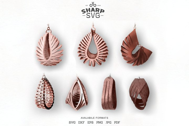 Sculpted Earring SVG Bundle - Leather Twisted Earrings SVG