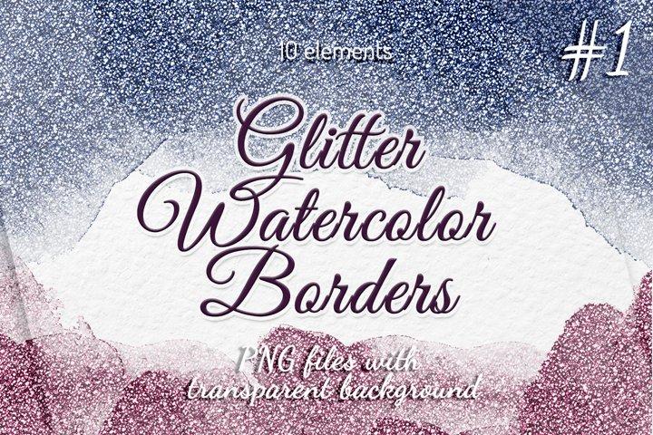 Glitter borders clipart Frames Watercolor borders