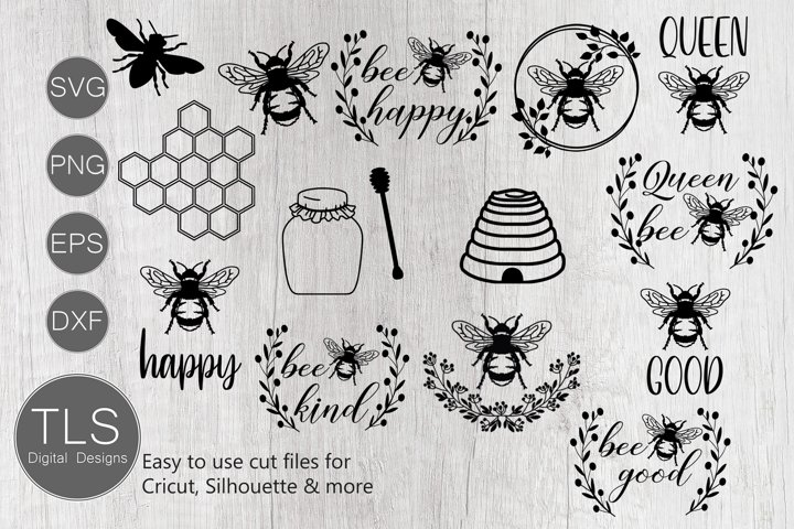 Bee SVG Bundle, Bumble bee SVG, Bees SVG, Bee SVG