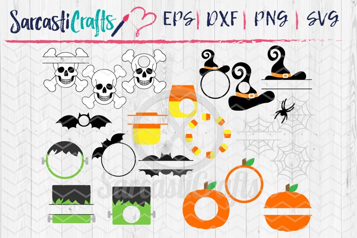 Halloween Monogram MEGA Bundle - Set of 21 - Digital Downloa