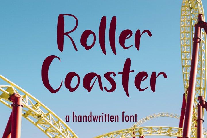 Roller Coaster A Handwritten Font