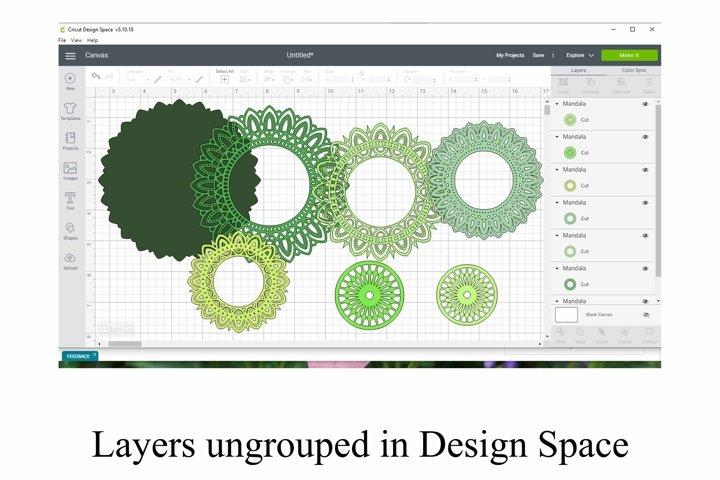 3D Layered Mandala SVG and PNG 7 Layers example 1