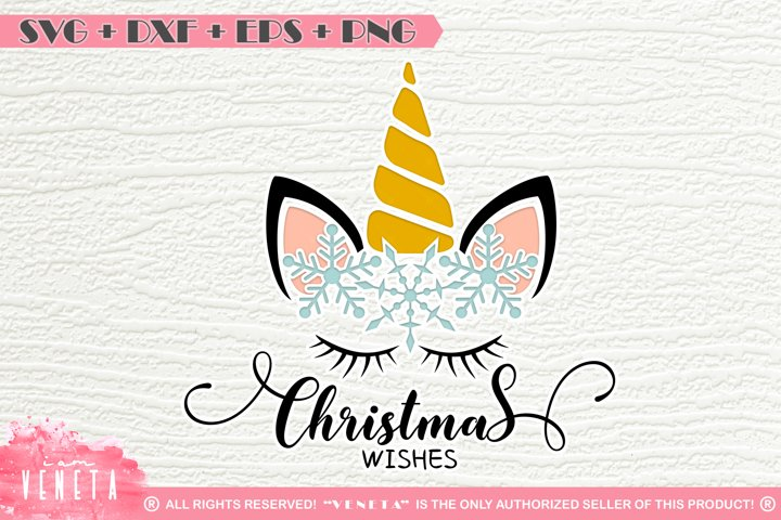 Unicorn | Christmas | Snowflakes | SVG DXF EPS |Cutting File example