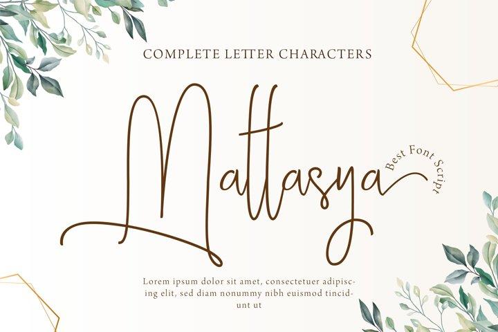 Mattasya - Best Font