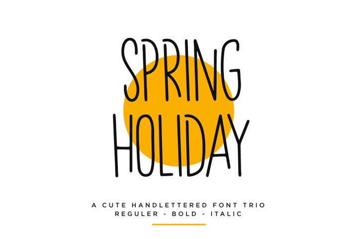 Spring Holiday | 3 Handwritten Font