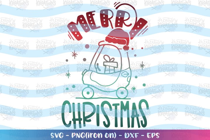 Christmas svg Push Car cute kids toddler Merry Christmas