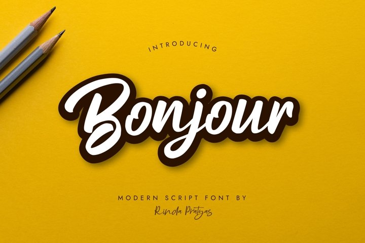Bonjour Modern Script Font