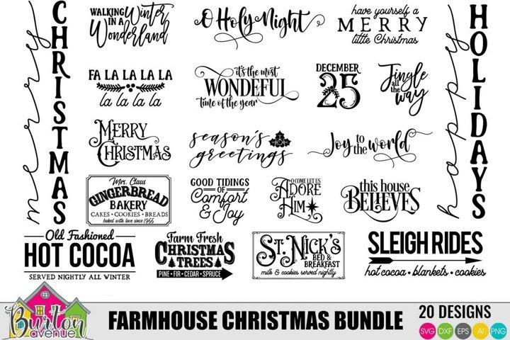 Farmhouse Christmas Bundle |SVG Files for Silhouette/Cricut