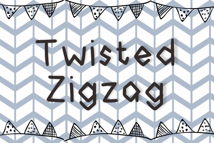 Twisted Zigzag Font